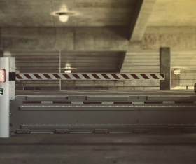 Vehicle wedge in multi-storey car park