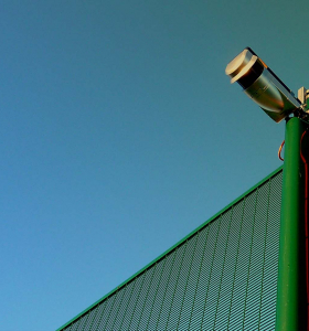 Optex redscan detection camera on a fence