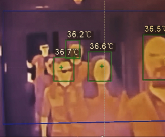 GSAS thermal camera image on a screen